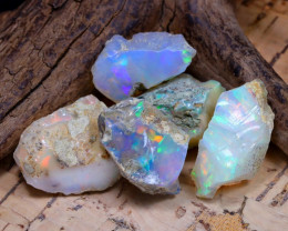 Welo Rough 44.33Ct Natural Ethiopian Play Of Color Rough Opal D2401