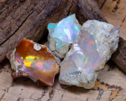 Welo Rough 43.52Ct Natural Ethiopian Play Of Color Rough Opal D2402