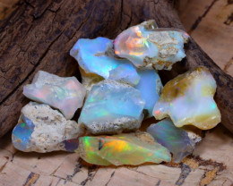 Welo Rough 40.92Ct Natural Ethiopian Play Of Color Rough Opal D2404