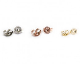 Push on Butterfly / Serrated / New Age Earring Backs | Gold and Nickel Free