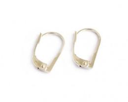 Foldover Shepherd Hooks | Nickel Free Silver, 9ct, 18ct White, Yellow Gold