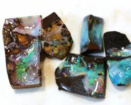 5 = 149cts Australian Boulder Opal Parcel ML02148A