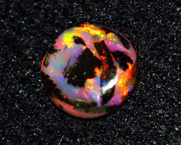 2.50 CRT ROLLING FLASH MULTICOLOR FIRE INDONESIAN OPAL WOOD FOSSIL