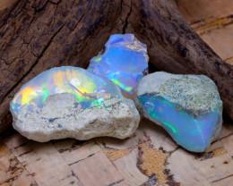 31.94Ct Bright Color Natural Ethiopian Welo Opal Rough DT0347