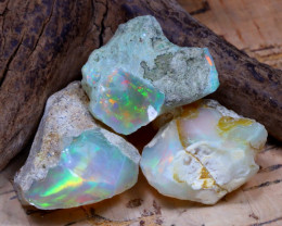 35.66Ct Bright Color Natural Ethiopian Welo Opal Rough DT0349