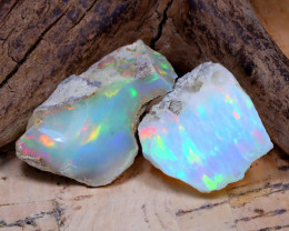 16.23Ct Bright Color Natural Ethiopian Welo Opal Rough DT0352