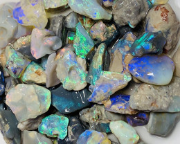 130 CTS NOBBY ROUGH OPALS WITH SOME NICE CUTTERS #1496