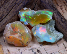 40.65Ct Bright Color Natural Ethiopian Welo Opal Rough DT0358