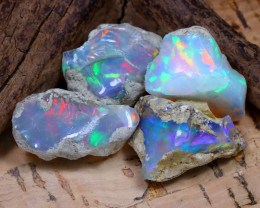 35.16Ct Bright Color Natural Ethiopian Welo Opal Rough DT0362