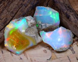 28.14Ct Bright Color Natural Ethiopian Welo Opal Rough DT0364