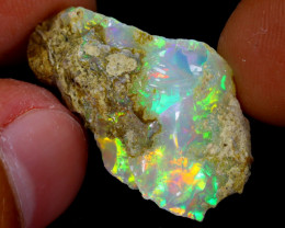 12cts Natural Ethiopian Welo Rough Opal / WR4003