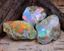 37.95Ct Bright Color Natural Ethiopian Welo Opal Rough DT0369