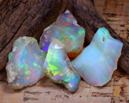 38.72Ct Bright Color Natural Ethiopian Welo Opal Rough DT0373