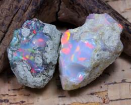 37.30Ct Bright Color Natural Ethiopian Welo Opal Rough DT0376