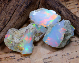 36.32Ct Bright Color Natural Ethiopian Welo Opal Rough DT0378