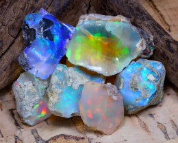 Welo Rough 37.23Ct Natural Ethiopian Play Of Color Rough Opal D2502