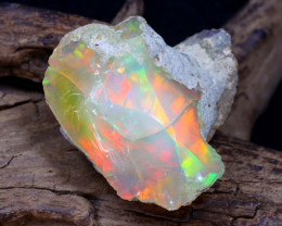 26.41Ct Bright Color Natural Ethiopian Welo Opal Rough DT0380