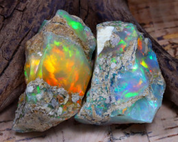 42.61Ct Bright Color Natural Ethiopian Welo Opal Rough DT0385