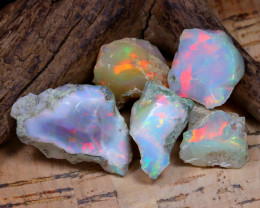 46.68Ct Bright Color Natural Ethiopian Welo Opal Rough DT0386