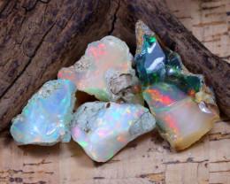 38.11Ct Bright Color Natural Ethiopian Welo Opal Rough DT0389