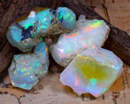 51.80Ct Bright Color Natural Ethiopian Welo Opal Rough DT0384