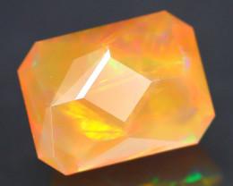 Certified 1.988Ct Fancy Octogon Cut Natural Ethiopian Opal FET0140