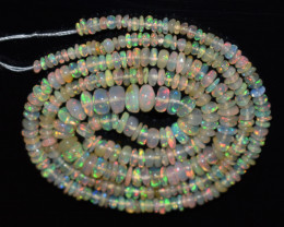 31.70 Ct Natural Ethiopian Welo Opal Beads Play Of Color OB1161