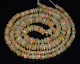37.55 Ct Natural Ethiopian Welo Opal Beads Play Of Color OB1162
