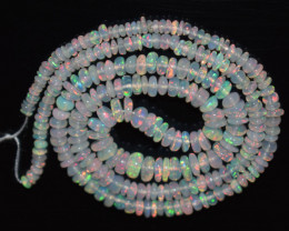 26.40 Ct Natural Ethiopian Welo Opal Beads Play Of Color OB1164
