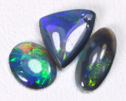 0.80Cts Australian Lightning Ridge Black Opal Parcel Lot ES0395