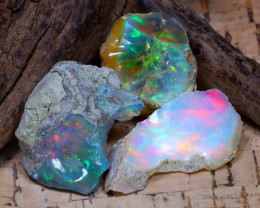 35.29Ct Bright Color Natural Ethiopian Welo Opal Rough DT0403