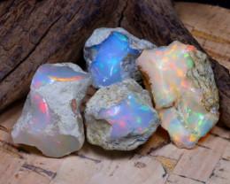 47.49Ct Bright Color Natural Ethiopian Welo Opal Rough DT0406