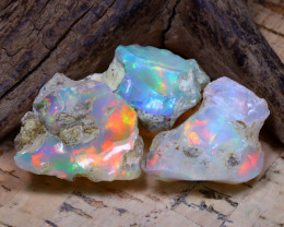 35.44Ct Bright Color Natural Ethiopian Welo Opal Rough DT0409