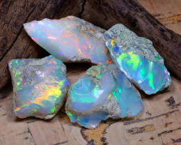 34.05Ct Bright Color Natural Ethiopian Welo Opal Rough DT0394