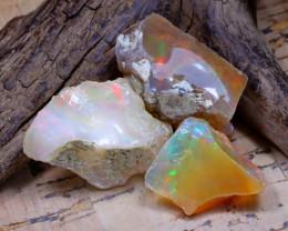 38.26Ct Bright Color Natural Ethiopian Welo Opal Rough DT0419