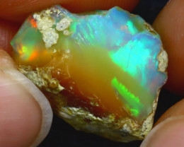 11.95Ct Multi Color Play Ethiopian Welo Opal Rough JF2711/R2