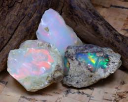 37.85Ct Bright Color Natural Ethiopian Welo Opal Rough DT0425