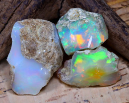 38.35Ct Bright Color Natural Ethiopian Welo Opal Rough DT0428