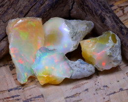38.92Ct Bright Color Natural Ethiopian Welo Opal Rough DT0429