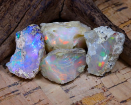 Welo Rough 45.60Ct Natural Ethiopian Play Of Color Rough Opal D2701