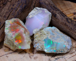 Welo Rough 42.03Ct Natural Ethiopian Play Of Color Rough Opal D2703