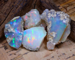 Welo Rough 40.73Ct Natural Ethiopian Play Of Color Rough Opal D2705