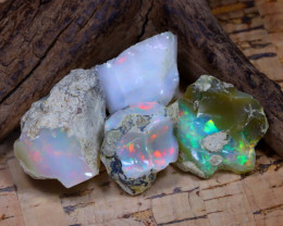 Welo Rough 44.76Ct Natural Ethiopian Play Of Color Rough Opal D2706