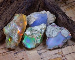 Welo Rough 42.20Ct Natural Ethiopian Play Of Color Rough Opal D2806
