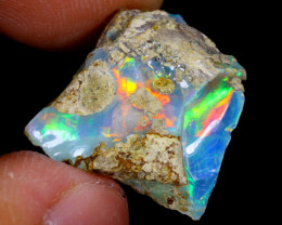 8cts Natural Ethiopian Welo Rough Opal / WR4083