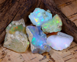 Welo Rough 41.52Ct Natural Ethiopian Play Of Color Rough Opal D2901
