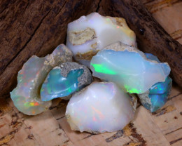 Welo Rough 46.99Ct Natural Ethiopian Play Of Color Rough Opal D2902