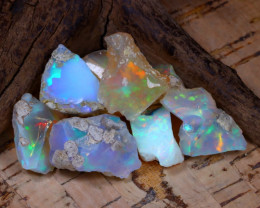 Welo Rough 40.40Ct Natural Ethiopian Play Of Color Rough Opal D2903
