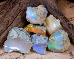 Welo Rough 49.09Ct Natural Ethiopian Play Of Color Rough Opal D2905