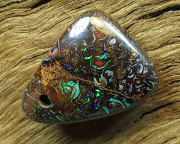13cts. DRILLED GEM  BOULDER MATRIX OPAL.
